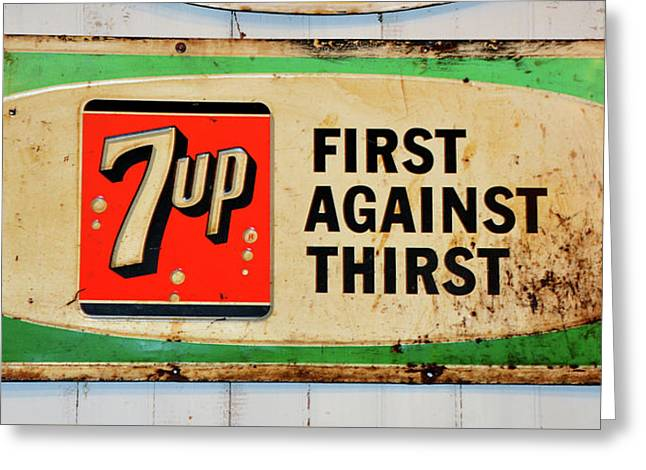 7up Sign Greeting Card by David Lee Thompson