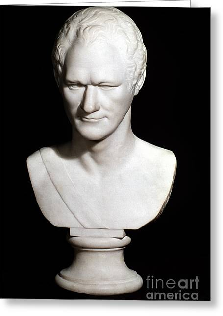 Statue Portrait Photographs Greeting Cards - Alexander Hamilton Greeting Card by Granger