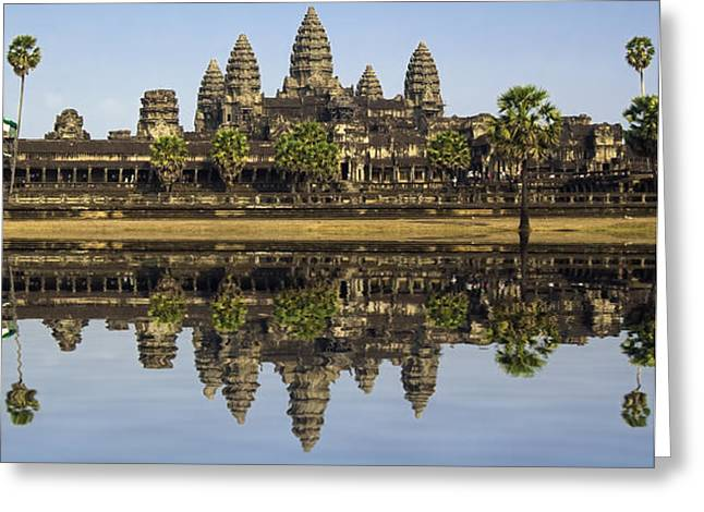 Angkor wat Greeting Card by MotHaiBaPhoto Prints