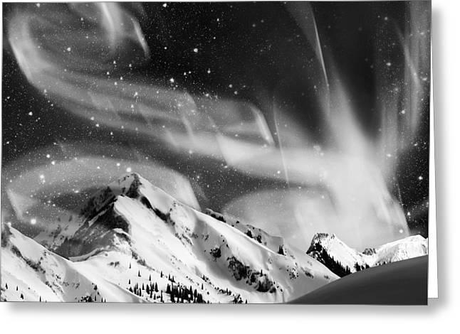 Aurora Borealis Greeting Card by Setsiri Silapasuwanchai
