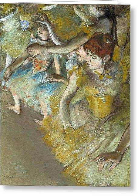 Ballet Dancers On The Stage Greeting Card by Edgar Degas