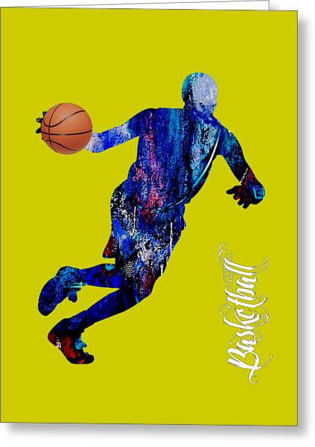 Basketball Collection Greeting Card by Marvin Blaine