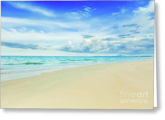 Miami Heat Greeting Cards - Beach Greeting Card by MotHaiBaPhoto Prints