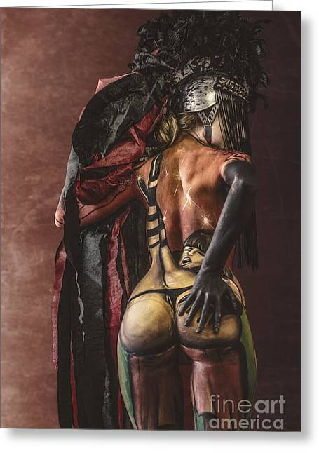 Bdsm Greeting Cards - Bodypainting Greeting Card by Traven Milovich
