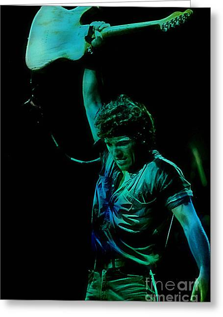 Bruce Springsteen Greeting Card by Marvin Blaine