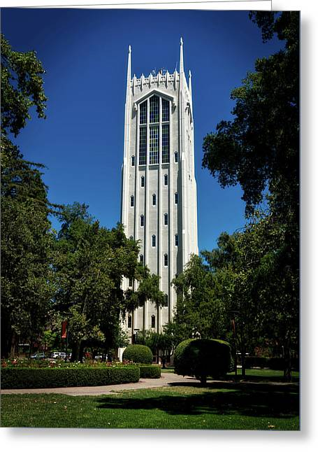 Burns Tower - University Of The Pacific Greeting Card by Mountain Dreams