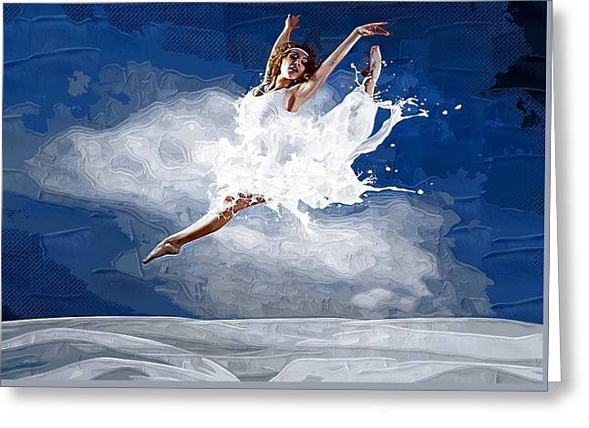 Ballet Bars Greeting Cards - Can You Dance Greeting Card by Michael Vicin