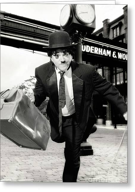 British Celebrities Photographs Greeting Cards - Charlie Chaplin Greeting Card by Oleksiy Maksymenko