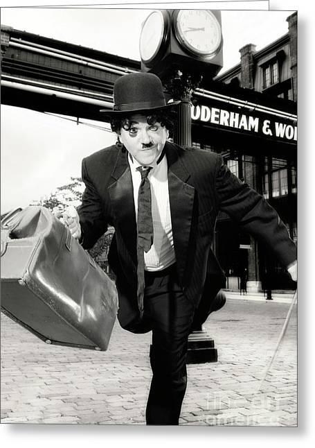 British Celebrities Greeting Cards - Charlie Chaplin Greeting Card by Oleksiy Maksymenko