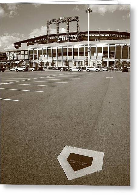 Baseball Art Photographs Greeting Cards - Citi Field - New York Mets Greeting Card by Frank Romeo