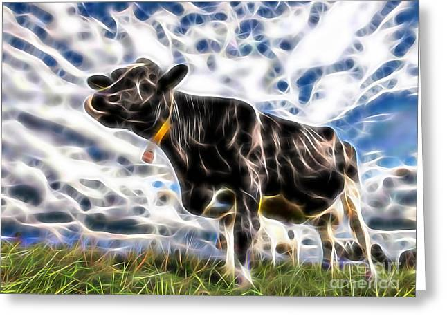 Animal Greeting Cards - Cow Greeting Card by Marvin Blaine