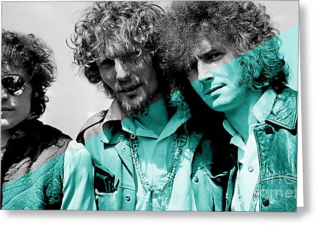 Cream Greeting Cards - Cream Eric Clapton Jack Bruce Ginger Baker Greeting Card by Marvin Blaine