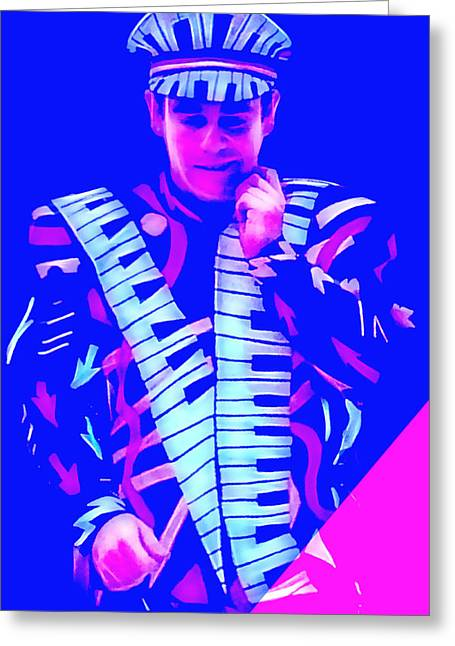 John Greeting Cards - Elton John Collection Greeting Card by Marvin Blaine