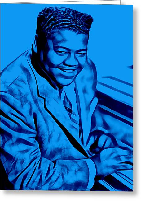 Fats Domino Collection Greeting Card by Marvin Blaine