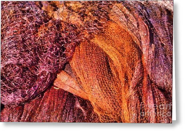 Colorful Greeting Cards - Fishing nets Greeting Card by George Atsametakis