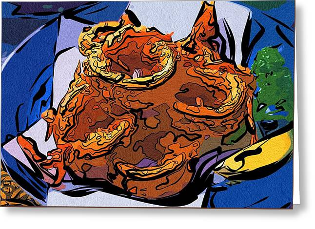 Local Food Digital Greeting Cards - Food Art For Kitchen Greeting Card by Michael Vicin