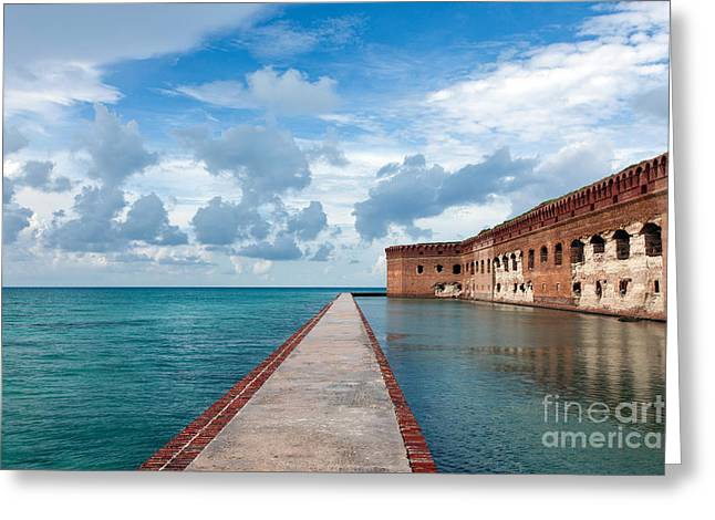 Dry Tortugas Greeting Cards - Fort Jefferson and Moat Greeting Card by Jason O Watson