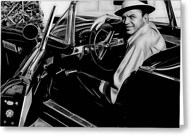 Frank Sinatra Collection Greeting Card by Marvin Blaine