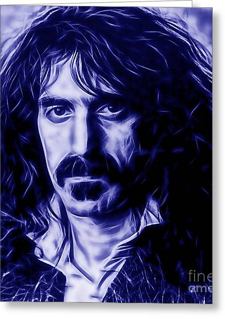 Frank Zappa Greeting Cards - Frank Zappa Collection Greeting Card by Marvin Blaine