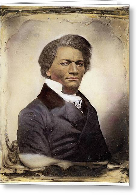 Abolition Movement Photographs Greeting Cards - Frederick Douglass Greeting Card by Granger