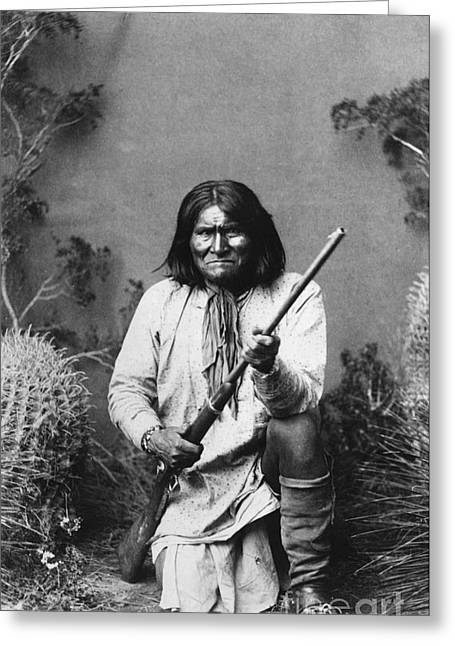 Neckerchief Greeting Cards - Geronimo (1829-1909) Greeting Card by Granger