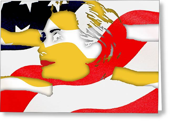 Hillary Clinton Greeting Cards - Hillary Clinton 2016 Collection Greeting Card by Marvin Blaine