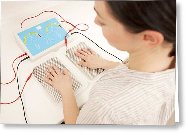 Mid-adult Greeting Cards - Iontophoresis For Excess Sweating Greeting Card by