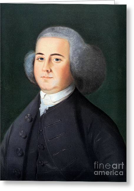 Blyth Greeting Cards - John Adams (1735-1826) Greeting Card by Granger