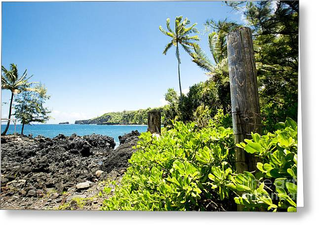 My Ocean Greeting Cards - Keanae Maui Hawaii Greeting Card by Sharon Mau