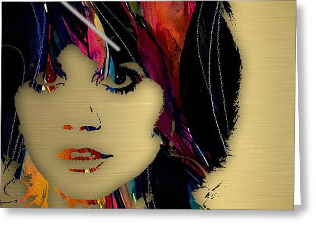 Country Music Greeting Cards - Linda Ronstadt Collection Greeting Card by Marvin Blaine