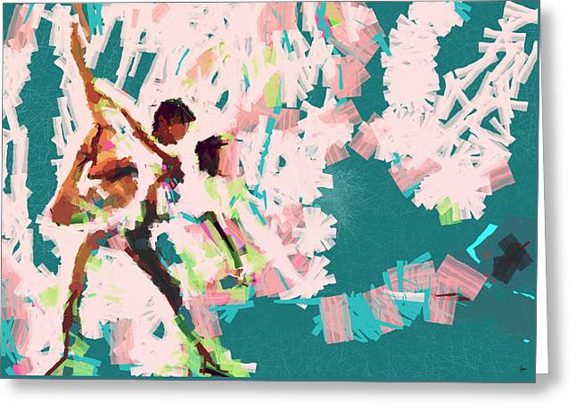Ballet Dancers Greeting Cards - Lost in motion......... Greeting Card by Sir Josef  Putsche