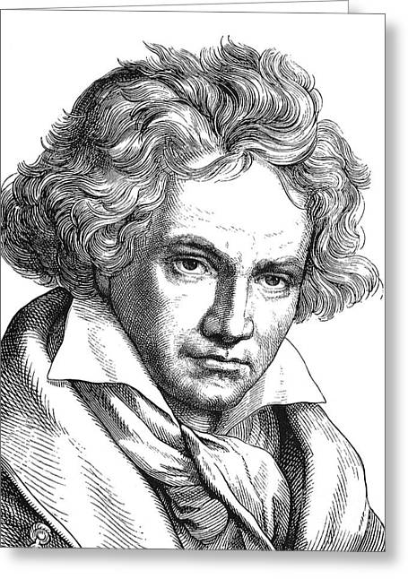 18th Century Greeting Cards - LUDWIG van BEETHOVEN Greeting Card by Granger
