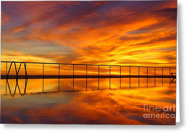 Ocean. Reflection Greeting Cards - Madeira Greeting Card by Michel Van Kooten
