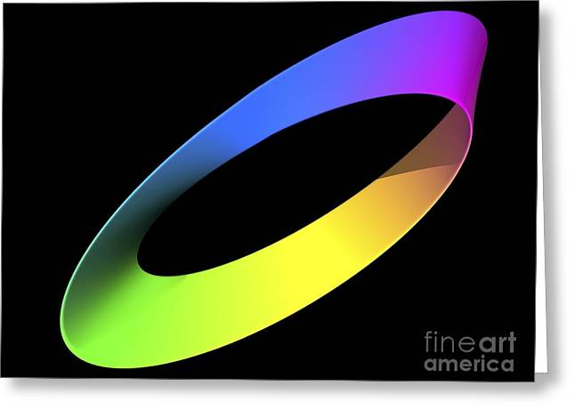 Immeasurable Greeting Cards - Mobius Strip, Computer Artwork Greeting Card by Pasieka
