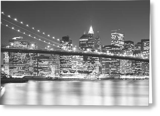 Brooklyn Bridge Park Greeting Cards - Nyc, New York City, New York State, Usa Greeting Card by Panoramic Images