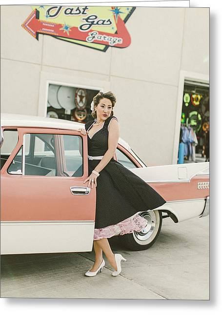 Stp Greeting Cards - Pinup Sce Greeting Card by T S Sell