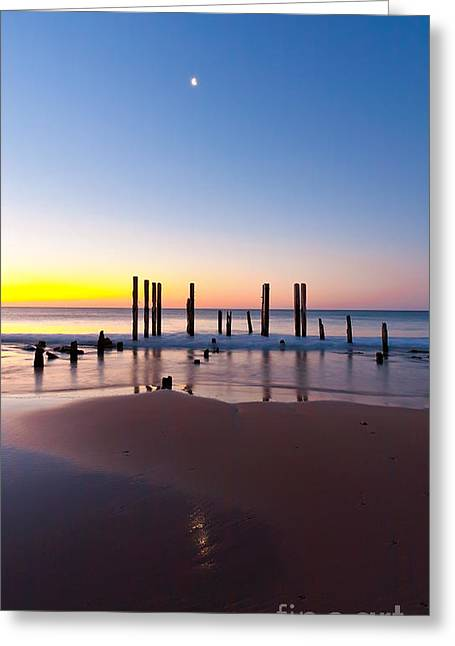 Sunset Seascape Greeting Cards - Port Willunga Sunset Greeting Card by Bill  Robinson