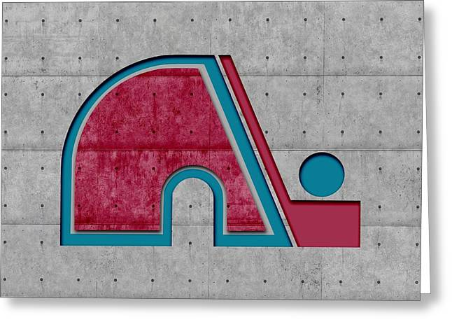Ice-skating Greeting Cards - Quebec Nordiques Greeting Card by Joe Hamilton
