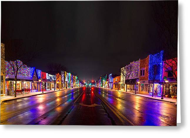 Rochester Greeting Cards - Rochester Christmas Light Display Greeting Card by Twenty Two North Photography