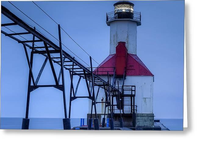 Saint Joseph, Michigan Lighthouse Greeting Card by Twenty Two North Photography