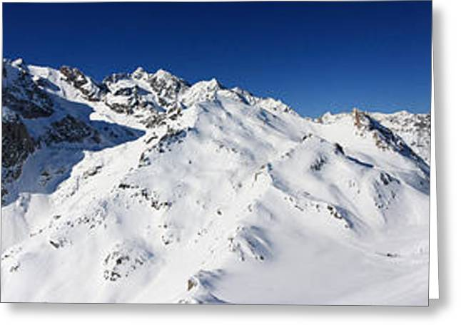 Snowboard Greeting Cards - Serre Chevalier in the French Alps Greeting Card by Pierre Leclerc Photography