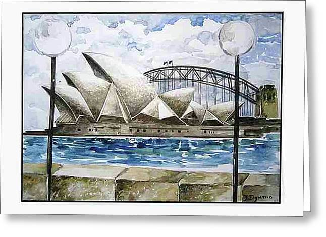 Sydney Opera House Greeting Card by Yelena Dyumin