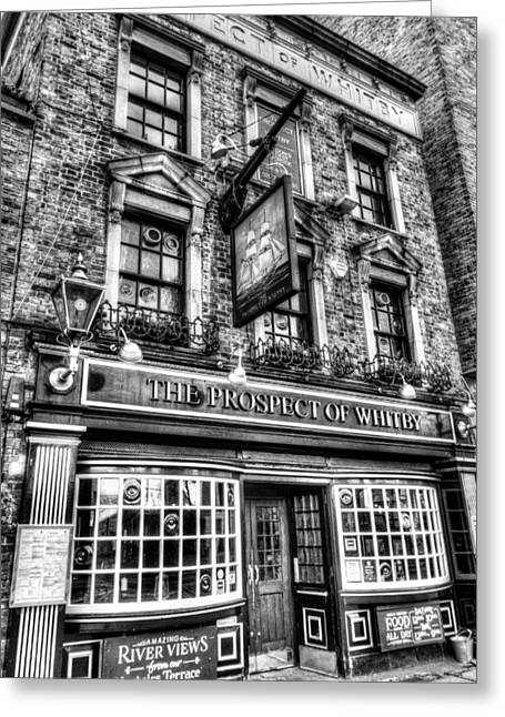Prospects Greeting Cards - The Prospect Of Whitby Pub London Greeting Card by David Pyatt