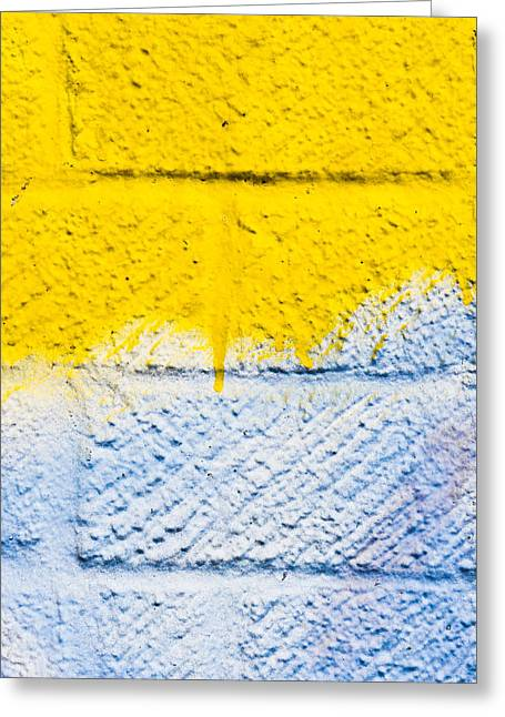 White Greeting Cards - Weathered wall Greeting Card by Tom Gowanlock