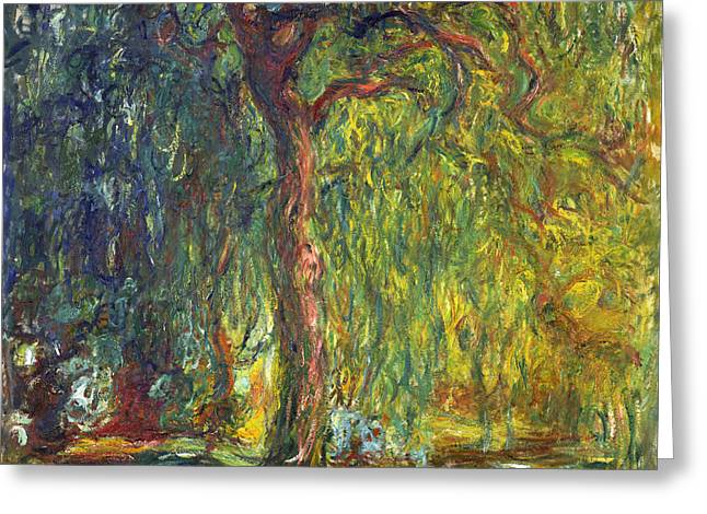 Weeping Greeting Cards - Weeping Willow Greeting Card by Claude Monet