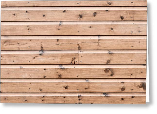 Cabin Wall Greeting Cards - Wooden panels Greeting Card by Tom Gowanlock