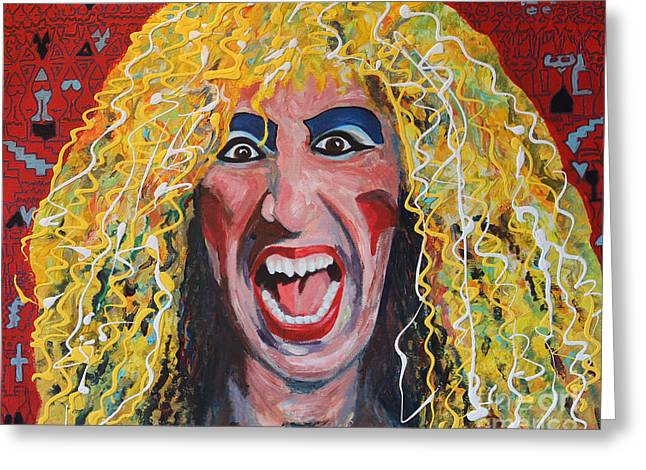 Snider Greeting Cards - 80s Hair Bands Twisted Sister Greeting Card by Robert Yaeger
