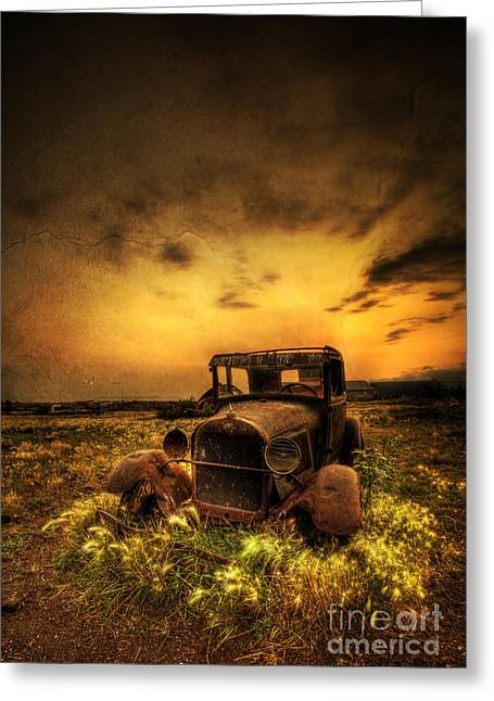 Ford Model T Car Greeting Cards - Untitled  Greeting Card by Jeremy Holmes