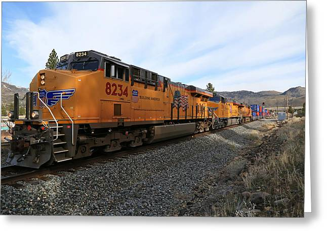 8234 Westbound Greeting Card by Donna Kennedy