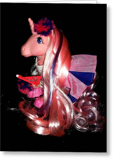 My Little Pony Twilight Rehaired Greeting Card by Donatella Muggianu